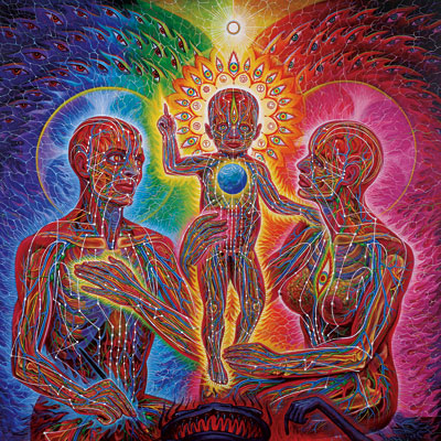 The illuminated Manuscript of the Body: Alex Grey's Net of Being (2/5)